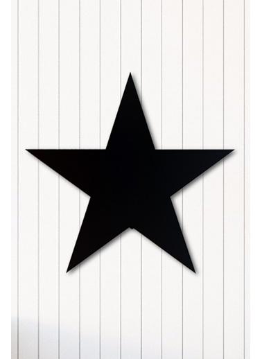 Angemiel Home Yıldız Metal Duvar Tablosu Siyah